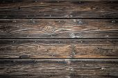 stock photo of nic  - Wood background with brown tones and black parts - JPG