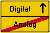 foto of analogy  - The German words for analog and digital  - JPG
