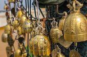 image of buddhist  - Buddhist bell in Buddhist temple - JPG