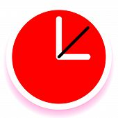 Постер, плакат: Clock Graphics Clock Icon Editable Clock With Hour Minute And Second Pointers Time Schedule Fa