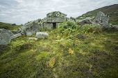 foto of megaliths  - 5000 year old stone age Megalithic Court Tomb in Co - JPG
