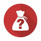 picture of riddles  - riddle red flat icon   - JPG