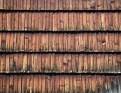 foto of shingles  - abstract background or texture wall of wooden shingles - JPG