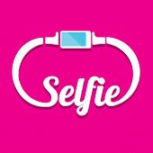 image of selfie  - Taking Selfie Photo on Smart Phone concept icon - JPG