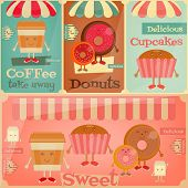 stock photo of donut  - Cafe Sweet Shop - JPG