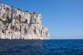 pic of paysage  - View on cliffs of Cassis in France - JPG