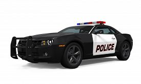 foto of police  - Police Car isolated on white background - JPG