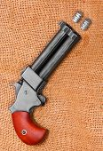 foto of derringer pistol  - An antique 2 shot  - JPG