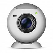 stock photo of video chat  - Vector illustration of web camera - JPG