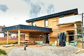 Building Energy Efficient Passive Wooden House. poster