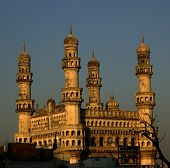 Side view of Charminar late in the day