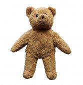 stock photo of teddy-bear  - teddy bear isolated on white background - JPG
