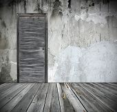 foto of wooden door  - grunge interior with door - JPG