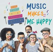 children early education leisure activities music for kids poster