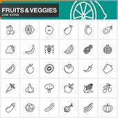 Line Icons Set For Resume Or Cv. Outline Vector Symbol Collection, Linear Pictogram Pack Isolated On poster