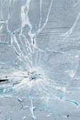 stock photo of car-window  - background of cracked and bursted car glass - JPG