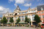Landmark the Hilton hotel on the 'Groenplaats' in Antwerp, Belgium poster