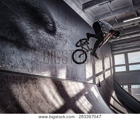 Young Bmx Making Crazy Tricks