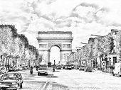 Постер, плакат: Триумфальная арка Париж