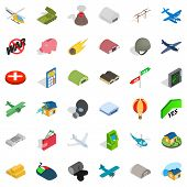Great War Icons Set. Isometric Style Of 36 Great War Icons For Web Isolated On White Background poster