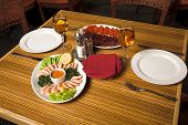 stock photo of gourmet food  - restaurant interior  - JPG