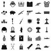 War Crime Icons Set. Simple Style Of 36 War Crime Icons For Web Isolated On White Background poster