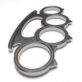 stock photo of brass knuckles  - Illustration of a brass knuckles on a white background - JPG