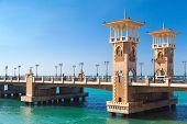 Stanley Bridge Is A 400 Meter-long Egyptian Monument, Popular Landmark Of Alexandria, Egypt poster