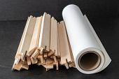 Roll Of Fine Art Print Paper With Canvas Stretcher Frames For Print And Framing Photographs On Canva poster