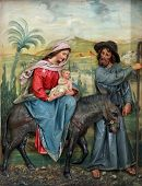 stock photo of christchild  - Flight to Egypt - JPG