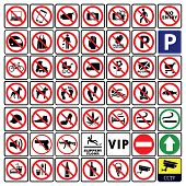 Very Important And Most Useful Sign And Symbol Collection-prohibition Sign Collection poster