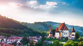 Beautiful Medieval Architecture Of Biertan Fortified Saxon Church In Romania Protected By Unesco Wor poster