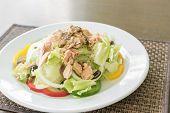 Fresh Tuna Salad with tuna dressing poster