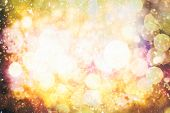 Disco Lights. Festive Christmas Background. Elegant Abstract Background With Bokeh Defocused Lights poster