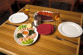 pic of gourmet food  - restaurant interior  - JPG