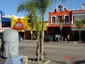 Постер, плакат: Центр города Tijuana Мексики Уличная сцена