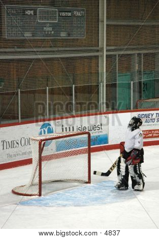 Woman Between The Pipes poster
