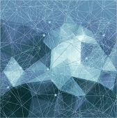 stock photo of geometric  - Abstract pattern of geometric shapes - JPG