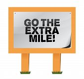 pic of higher power  - go the extra mile wood sign illustration design over white - JPG