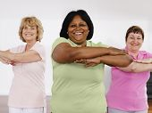 stock photo of senior class  - Women taking exercise class - JPG