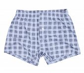 Checkered boxer shorts.