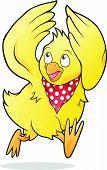 stock photo of nursery rhyme  - Vector illustration of Chicken Licken Chicken Little - JPG