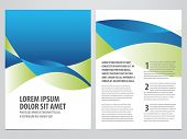 vector business brochure, flyer template