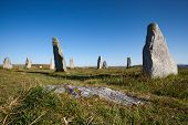 stock photo of megaliths  - Callanish site Isle of Lewis  - JPG