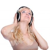 women with headphones