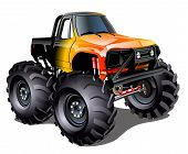 image of muscle-car  - Vector Cartoon Monster Truck - JPG