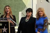 Rita Wilson, Ann Wilson, Nancy Wilson at the induction ceremony for Heart into the Hollywood Walk of