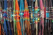 pic of bartering  - necklaces from the village market - JPG