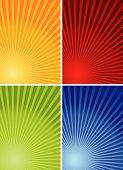 Постер, плакат: 4 красочных фонов
