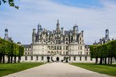 foto of chateau  - Chambord castle is located in Loir - JPG